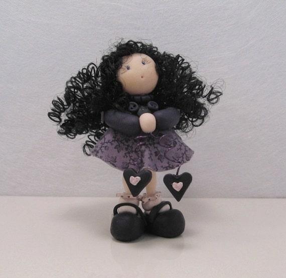 OOAK miniature doll - Violet