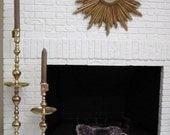 Pair Candlesticks, Candleholders, Large Brass Church Altar Size