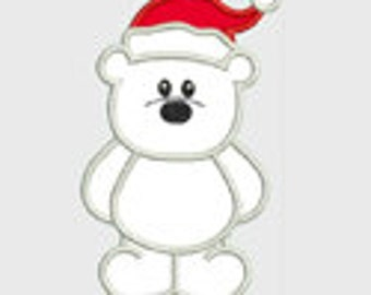 Polar Bear...Embroidery Applique Design...Three sizes for multiple hoops...Item1290...INSTANT DOWNLOAD