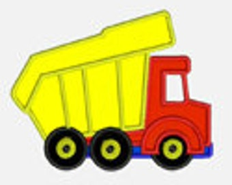Dump Truck...Embroidery Applique Design...Three sizes for multiple hoops...Item1222...INSTANT DOWNLOAD