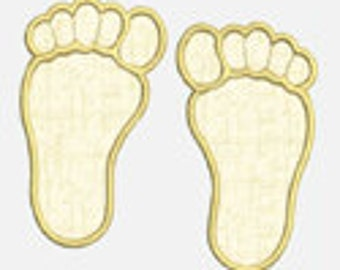 Foot Prints...Embroidery Applique Design...Three sizes for multiple hoops...Item1320...INSTANT DOWNLOAD