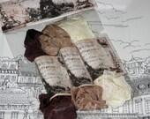 Scrunched Seam Binding ribbon, Crinkled Seam Binding Packaged Vintage Chocolat ECS