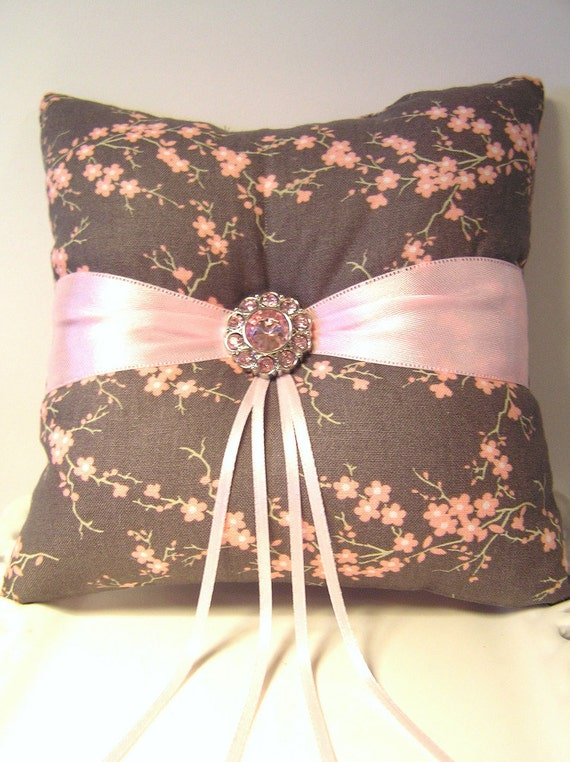 Cherry Blossoms Ring Pillow