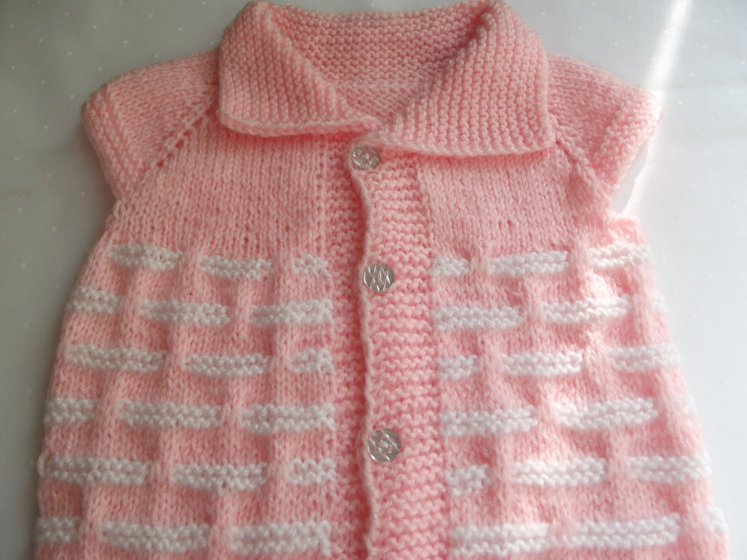Handmade Knitting Pattern...Knitting Baby Vest... by Vestberet
