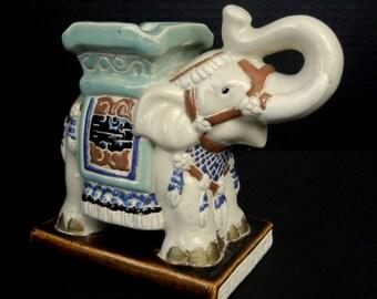 "Mid Century ELEPHANT ASHTRAY or Trinket Dish  //  7"" w  x  3 1/2"" d  x  5 1/2"" h  //  gu12"
