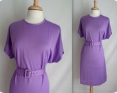 Purple Dress with Matching Belt