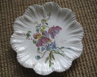 Franz Anton Mehlem Floral Plate