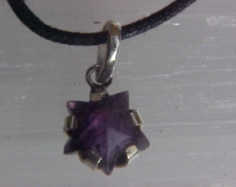 AMETHYST Star CUSTOM Designed Pendant in Sterling Silver Celestial gift