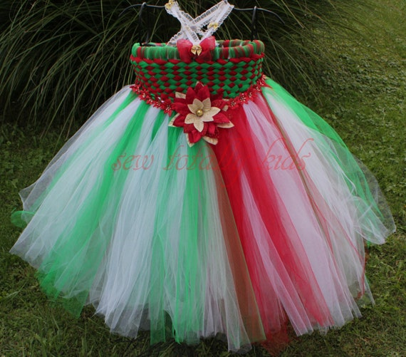Items Similar To Christmas Weave Tutu Dress Pageant Wear