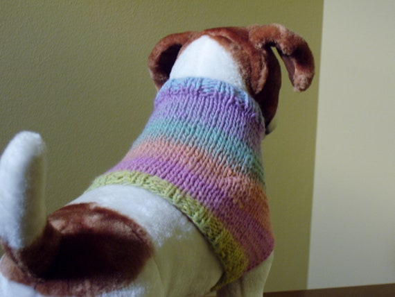 "Dog Sweater ""Lounging Vest"" Hand Knit Medium"