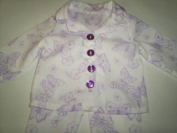 Butterfly pajamas for american girl doll