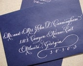 Calligraphy Envelope Addressing--The Savannah Font