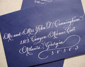 Calligraphy Envelope Addressing--The Savannah Font