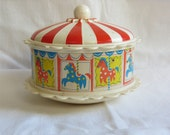 Vintage Carousel Infant Chime Toy / Vintage Baby Toy