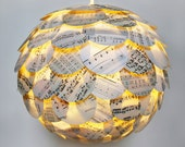 The Manhasset Sheet Music Pendant Light - Hanging Paper Artichoke Lantern - Shade Only