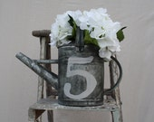 Watering Can Vintage Style with Number 5