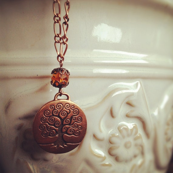 One of a Kind Copper Tree Necklace