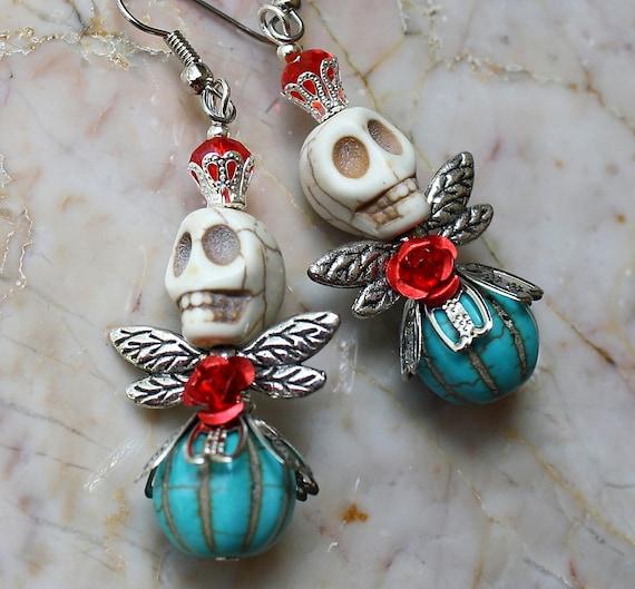 Day Of The Dead Dia De Los Muertos Frida Kahlo Angel Fairy Red