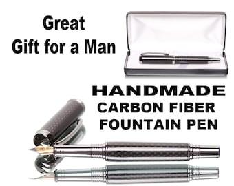 Carbon Fiber Fountain Pen Best Pen Shop for carbonfiber style pens great pen for a man -  gift for him