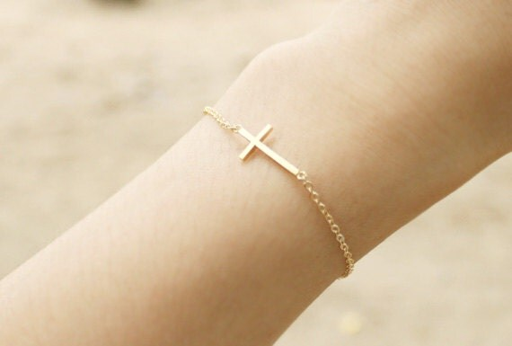 Sideways Cross Bracelet Sideways Cross Bracelet in