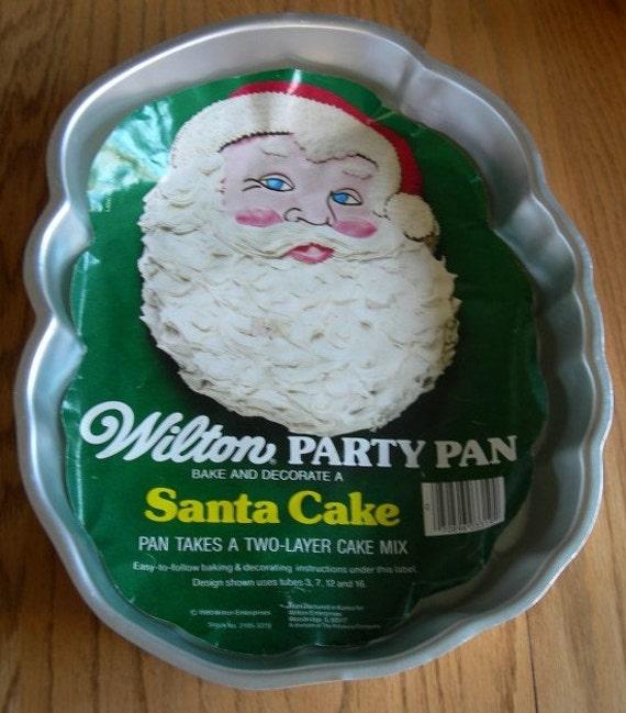 Christmas Cake Ideas Wilton : Items similar to Wilton Santa Cake Pan, Santa, Christmas ...