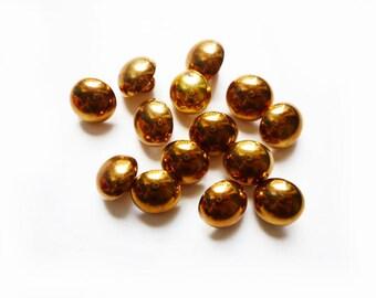 5 Copper Vintage Buttons