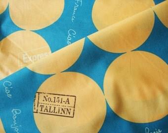 Japanese Fabric Cotton Yuwa - Paris Merci Blue - half yard