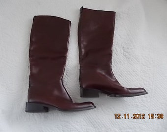 Leather Women's Boots, Vintage, Bally of Switzerland