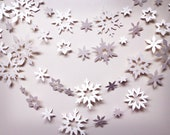 Snowflake Garland Shimmer White holiday decoration