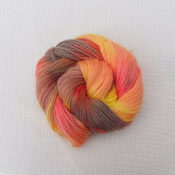 Hand Dyed Organic Merino Aran Yarn - Autumnal Glow