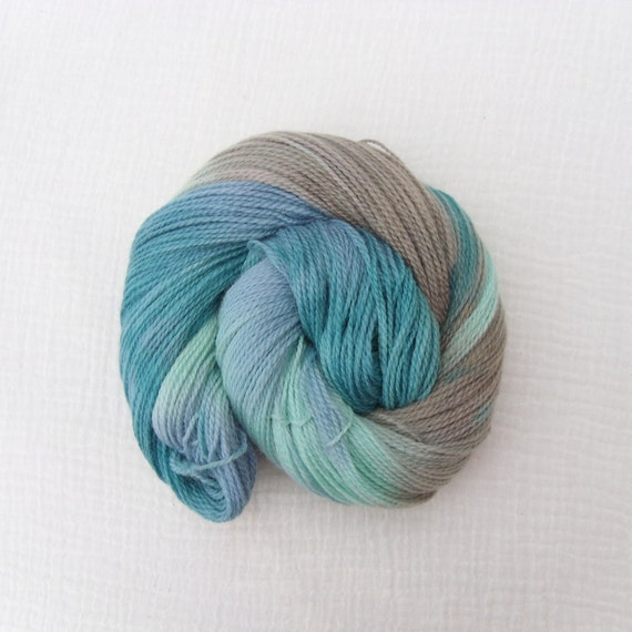 Hand Dyed Yarn - Merino 2ply sock or fingering weight  100g - Quayside