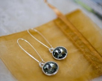 Handmade Custom Bridesmaid Swarovski Earrings- 5 Pair