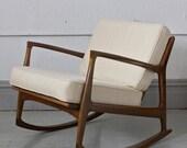 Danish Ib Kofod Larsen Selig Rocking Lounge Chair  - RESERVED  -