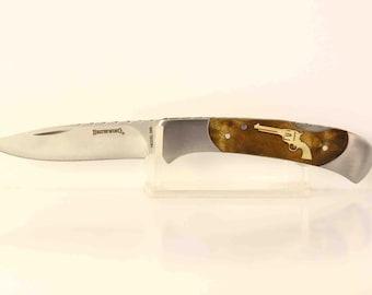 Browning custom Pistol Inlay Pocket knife