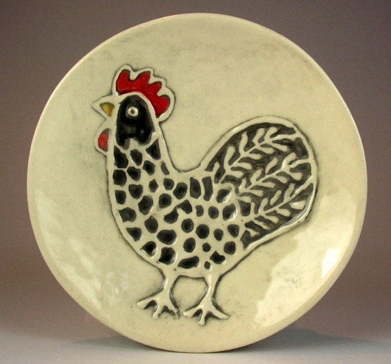 black rooster dish
