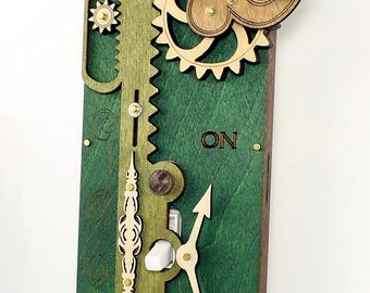 Green Single Rack and Pinion Light Switch Plate