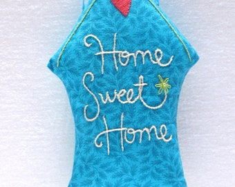 Home Sweet Home fabric house ornament or door hanger