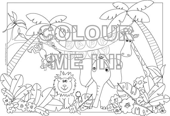 jungle jaunt coloring pages - photo#32