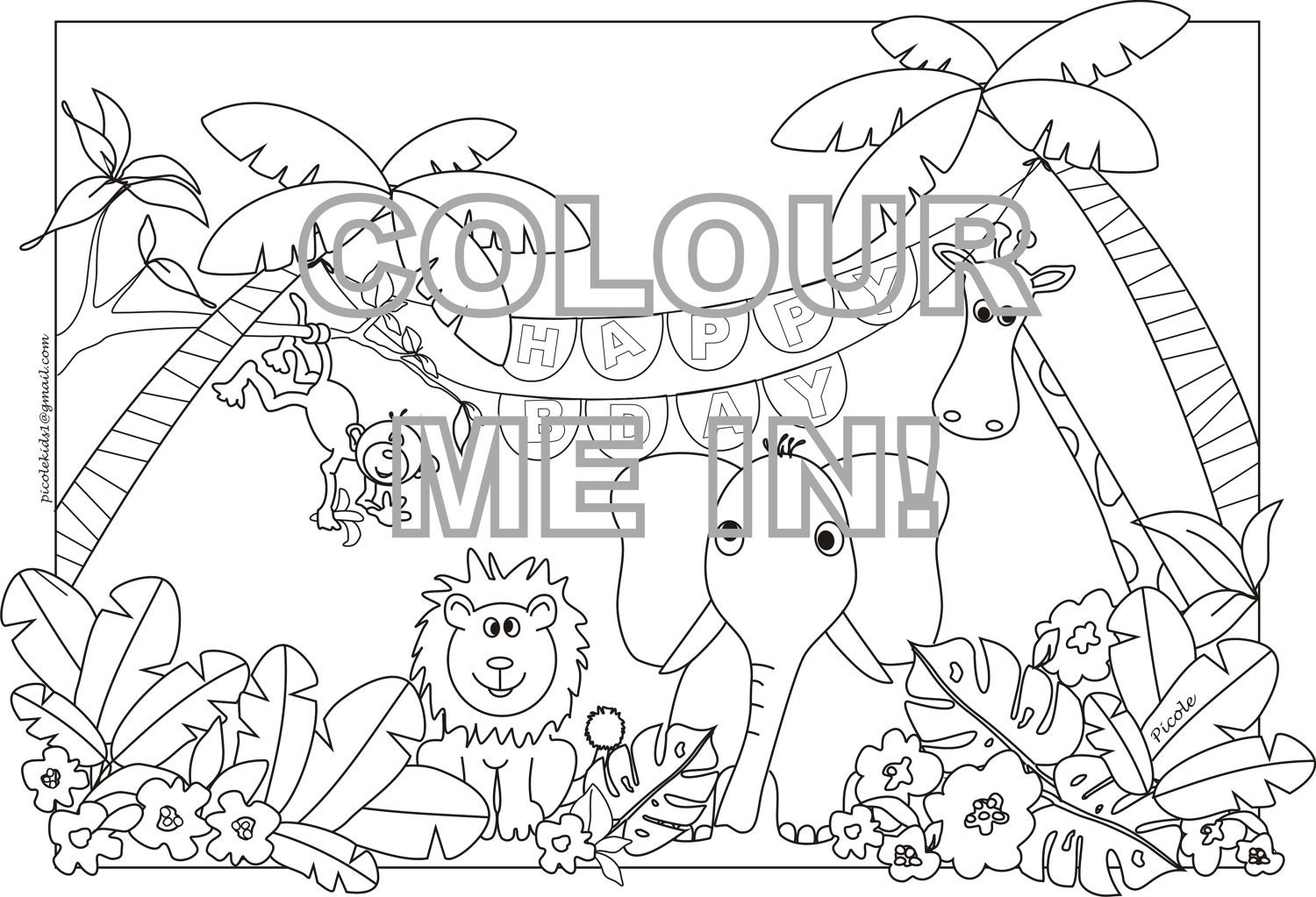 Free Coloring Pages Of Jungle Animals Coloring Pages