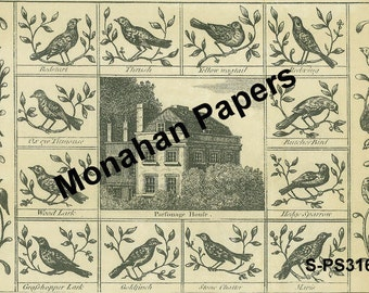 19.5x27 Aged Parsonage House Paper Sheets