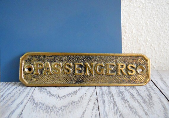 Brass Passengers Plaque