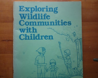 Vintage Girl Scout Exploring Wildlife Communities with Children Book