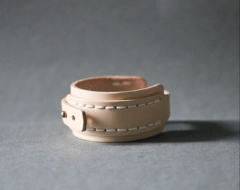 Big Stitch Leather Bracelet(Nude)