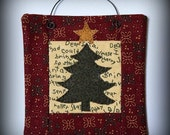 Christmas Tree Six Inch Mini Quilt