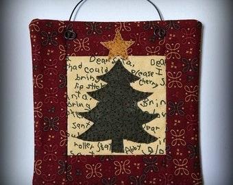 Christmas Tree Six Inch Mini Quilt