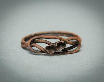 Antique brass primitive ring. Size 7