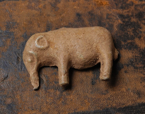 Antique Small Lead Elephant Toy Home Decor By Alchemyshop On Etsy