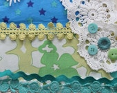Vintage lace, trims and embellishment pack