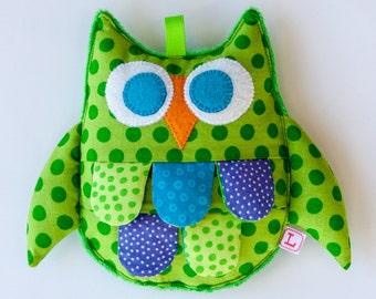 Owl Baby Sensory Crinkle Toy - Green