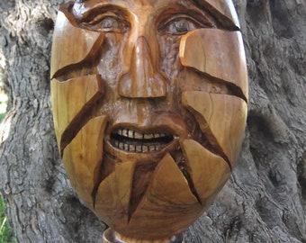 Hatching, Olive wood sculpture